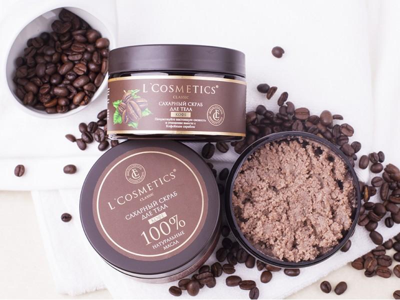 Очищающие натуральные скрабы сахарные: Скраб для тела сахарный «Кофе» 260 гр