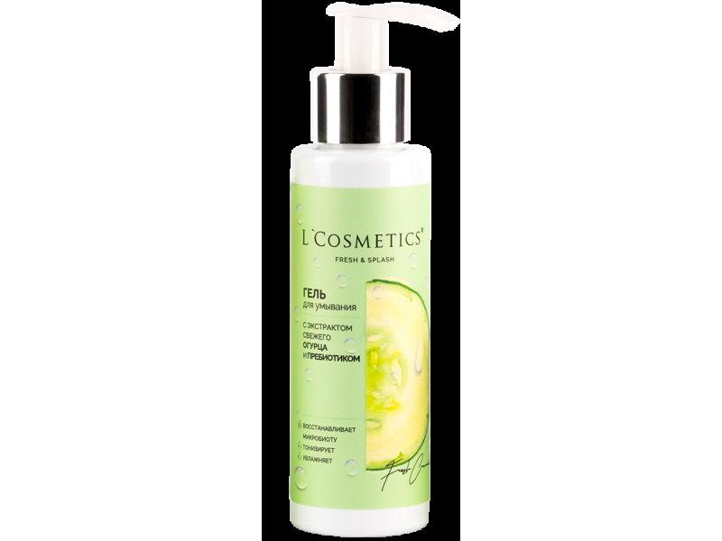 Гель для умывания L'Cosmetics серии «Fresh and Splash» с экстрактом свежего огурца и пребиотиком 110 мл. купить