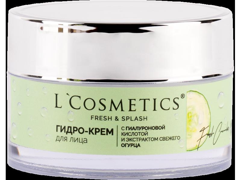 Гидро-крем для лица L'Cosmetics серии «Fresh and Splash» с гиалуроновой кислотой и экстрактом свежего огурца 50 мл