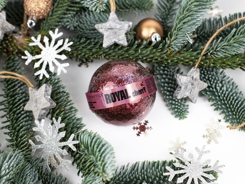 Бурлящий шарик с блестками ROYAL CHERRY серии MAGIC BEAUTY