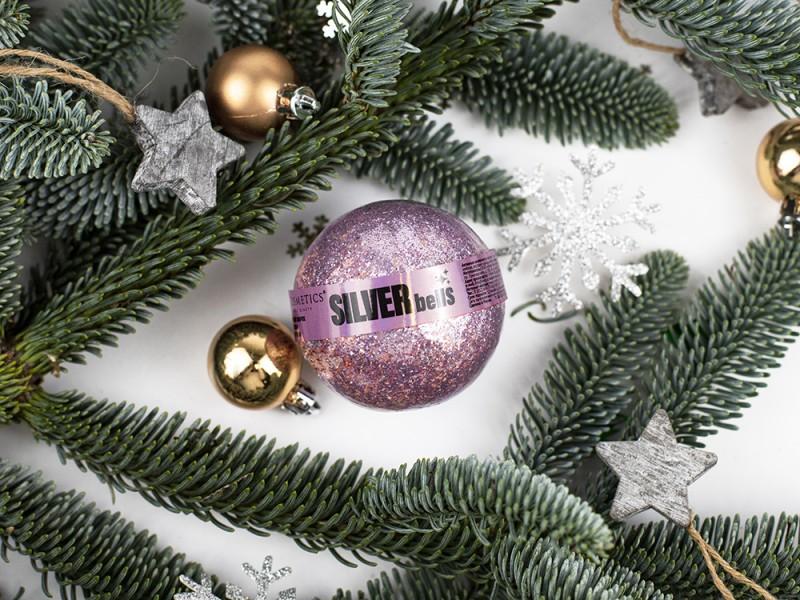 Бурлящий шарик с блестками SILVER BELLS серии MAGIC BEAUTY